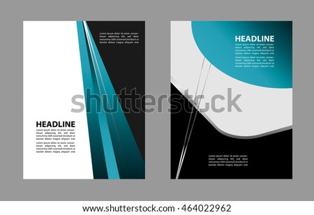 professional business flyer template brochure cover stock vector