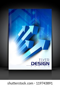 Professional business flyer template or corporate banner design, can be use for publishing, print and presentation. EPS 10.