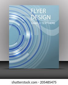 Professional business flyer template or corporate banner, cover design/design for print, publishing or presentation