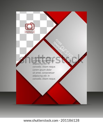 Professional Business Flyer Template Or Corporate Banner Design With Place For Your Content Print