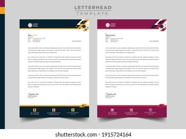 Professional Business Letterhead Design, Modern letterhead template