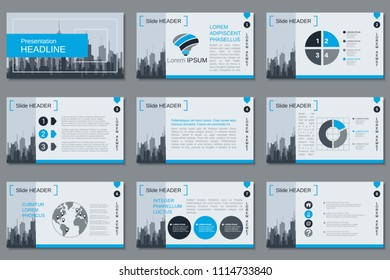 professional business presentation slide show vector のベクター画像