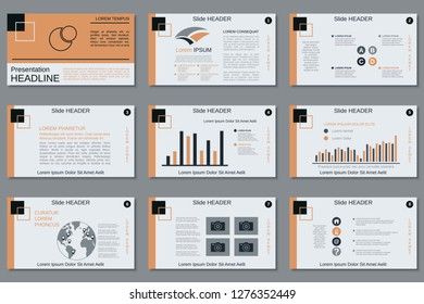 Professional business presentation, slide show, infographic elements, annual report, brochure vector design