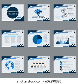 Professional business presentation, slide show vector design template. Abstract geometric style background