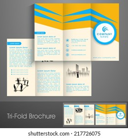 template tri fold brochure design printing vector stock vector