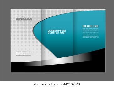 vector empty tri fold brochure print template design trifold