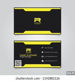 Professional card name design background templates. modern and clean style