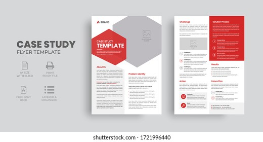 Professional Case Study Template, Flyer Template, Double Side Flyer, Brochure Cover, Poster design with Case Study Booklet
