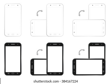 Colorful styles of cell phone screen hd template is convenience.