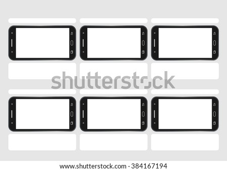 Professional cell phone demo screen hd stock vector (royalty free.