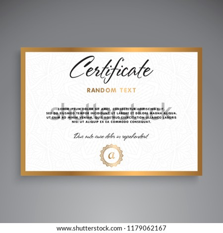 professional certificate template design stock vector royalty free