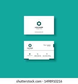 Professional Clean Minimal Creative Unique Business Card Design Template Vector