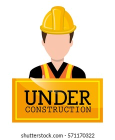 Professional construction on site