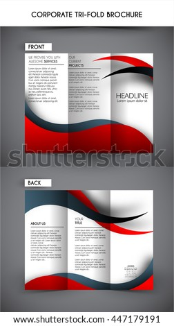 Professional corporate business tri fold brochure stock vector professional corporate business tri fold brochure template flashek Choice Image