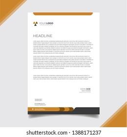 Professional corporate letterhead design template