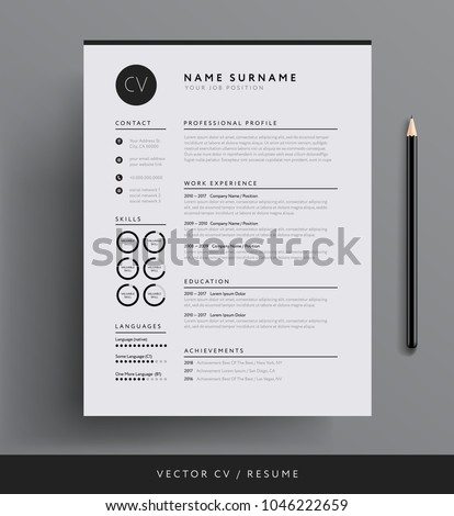 Professional CV Resume Template Design For A Creative Person