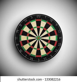 Professional darts board. Eps 10