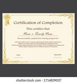 professional diploma award certificate design template