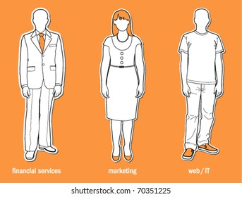 Professional dress code - vector illustration