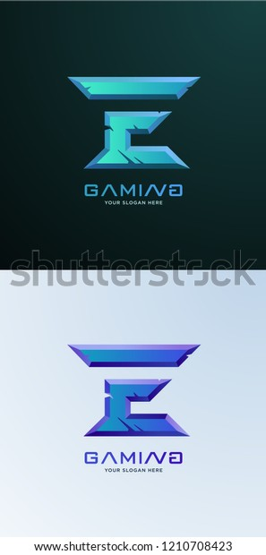Professional E Letter Gaming Logo Stock Image Download Now