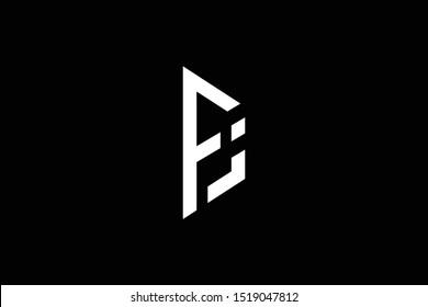 professional elegant trendy awesome artistic black and white color PJ JP FJ JF initial based Alphabet icon logo.