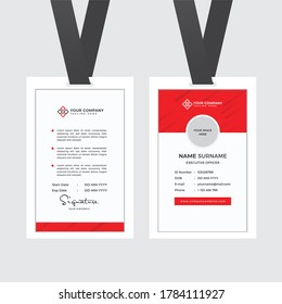 Professional Employee ID Card Template Vector