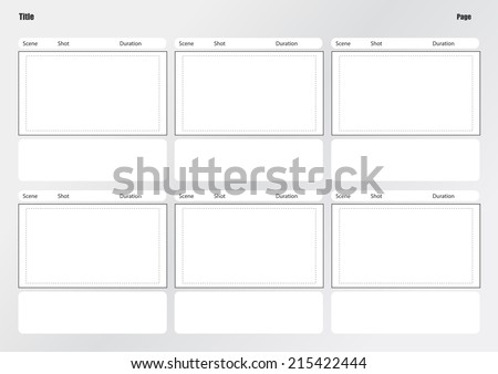 professional film storyboard template easy present のベクター画像