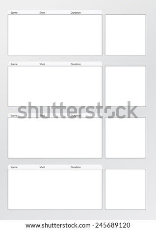 Storyboard Templates | Professional Film Storyboard Template Easy Present Stock Vector