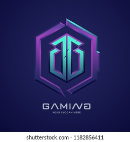 professional gaming 3d logo