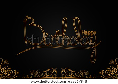 Professional Happy Birthday Card Design Elegant Stock Vector