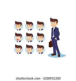 professional human business cartoon character