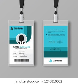 Professional identity card template