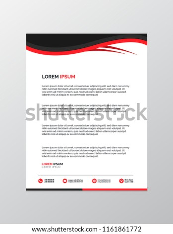 professional letterhead template stock vector royalty free