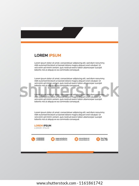 Professional Letterhead Template Stock Vector (Royalty Free