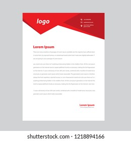 professional letterhead templates stock vector royalty free