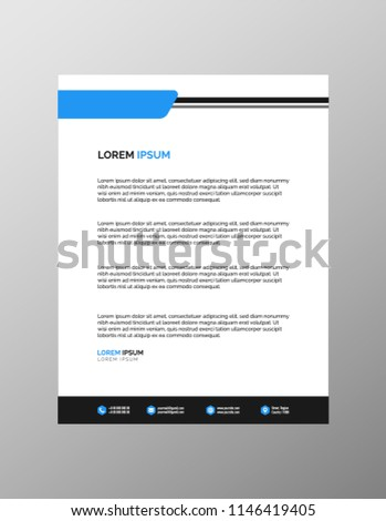 Professional Letterhead Templates Stock Vector (Royalty Free ...