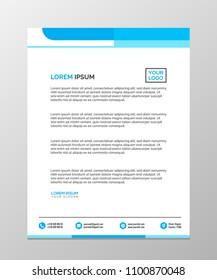 Professional Letterhead Templates Design Vector Illustration