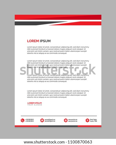 Professional letterhead templates design vector illustration stock professional letterhead templates design vector illustration maxwellsz