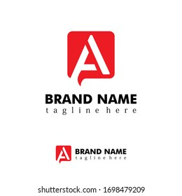 professional logo template. the letter A logo in the box. Can be used for store logos, company names, trademarks, logistics, etc. eps vector 10.