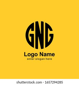 professional logo template. the three initials form a circle logo. GNG letters with typographic style, for business logos, etc. vector eps 10