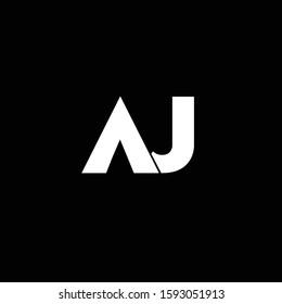 Professional Minimal Letter AJ Logo Design in Editable Vector Format