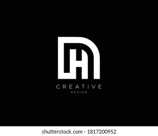 Professional and Minimalist Letter DH HD Logo Design, Editable in Vector Format