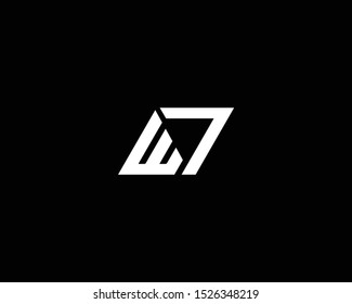 Professional and Minimalist Letter ET EL Logo Design, Editable in Vector Format in Black and White Color
