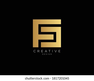 Professional and Minimalist Letter FD FS Logo Design, Editable in Vector Format