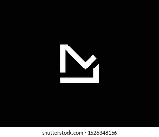 Professional and Minimalist Letter ML LM NL LN Logo Design, Editable in Vector Format in Black and White Color