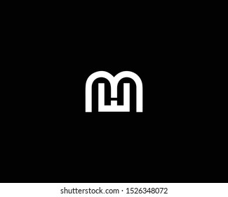 Professional and Minimalist Letter MW WM ME EM Logo Design, Editable in Vector Format in Black and White Color