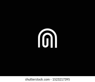 Professional and Minimalist Letter NG GN Logo Design, Editable in Vector Format in Black and White Color