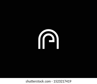 Professional and Minimalist Letter NP PN Logo Design, Editable in Vector Format in Black and White Color