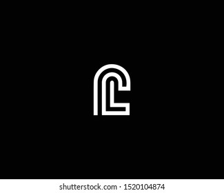 Professional and Minimalist Letter PL LP Logo Design, Editable in Vector Format in Black and White Color