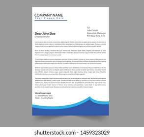 Professional modern and clean Letterhead template